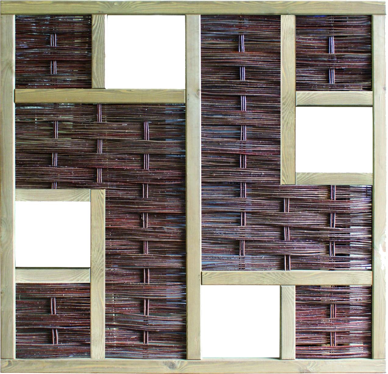 LABO-3D Weidengeflechtzaun, 4 Fenster