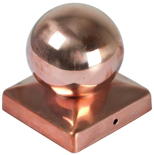 Pfostenabdeckung Kugel, Kupfer