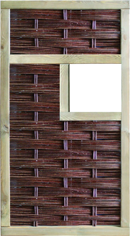 LABO-3D Weidengeflechtzaun, 1 Fenster mittig