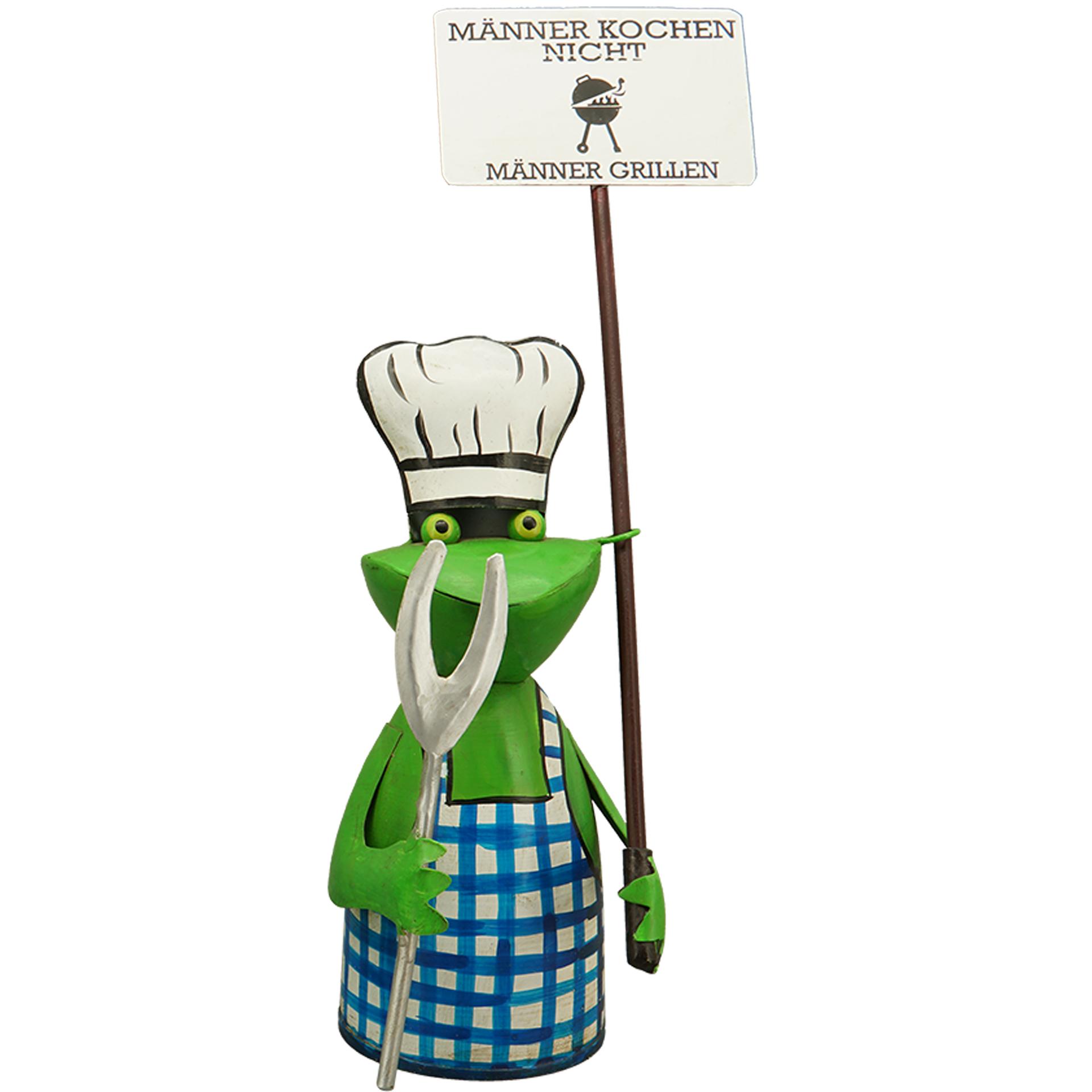 Zaunhocker Frosch BBQ blau - Männer