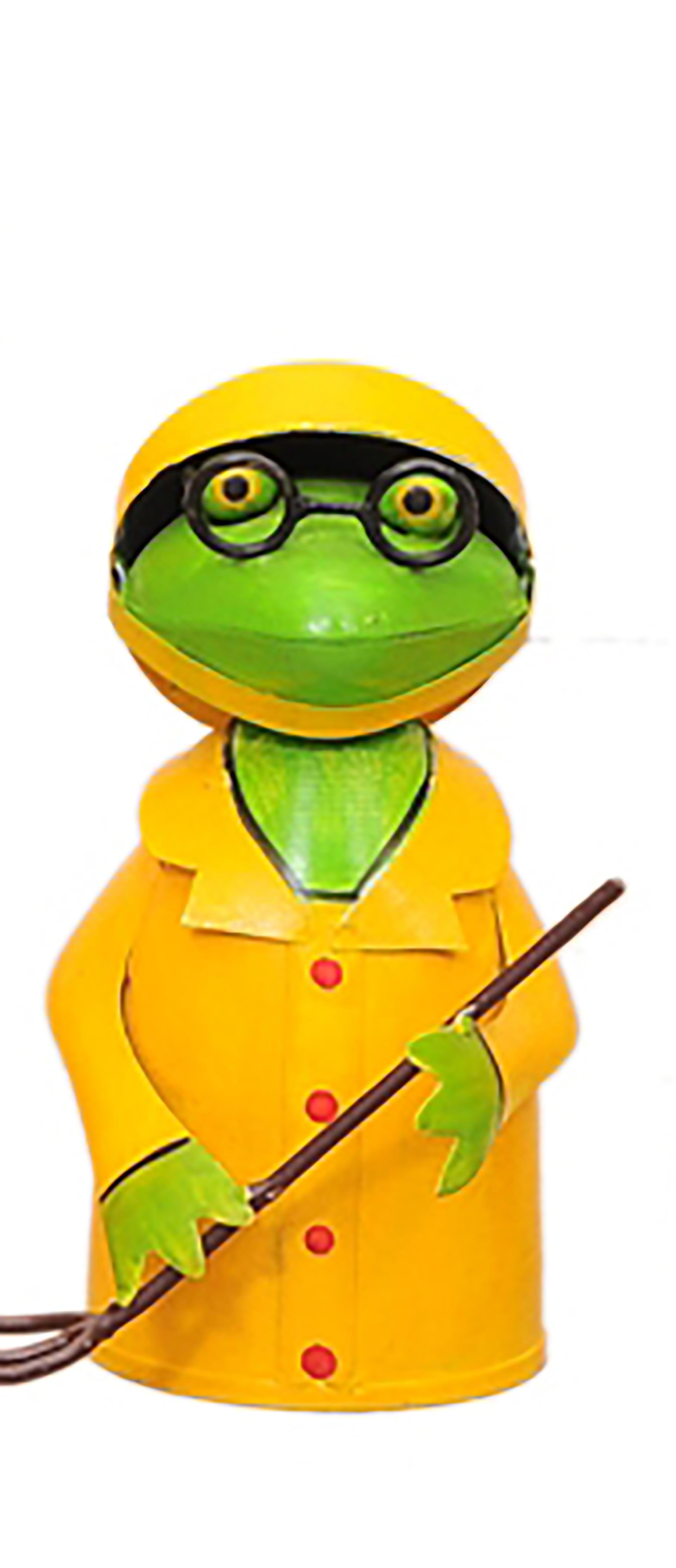 """Zaunhocker Frosch """"Fischers Fritz"""" mit Gabel"""