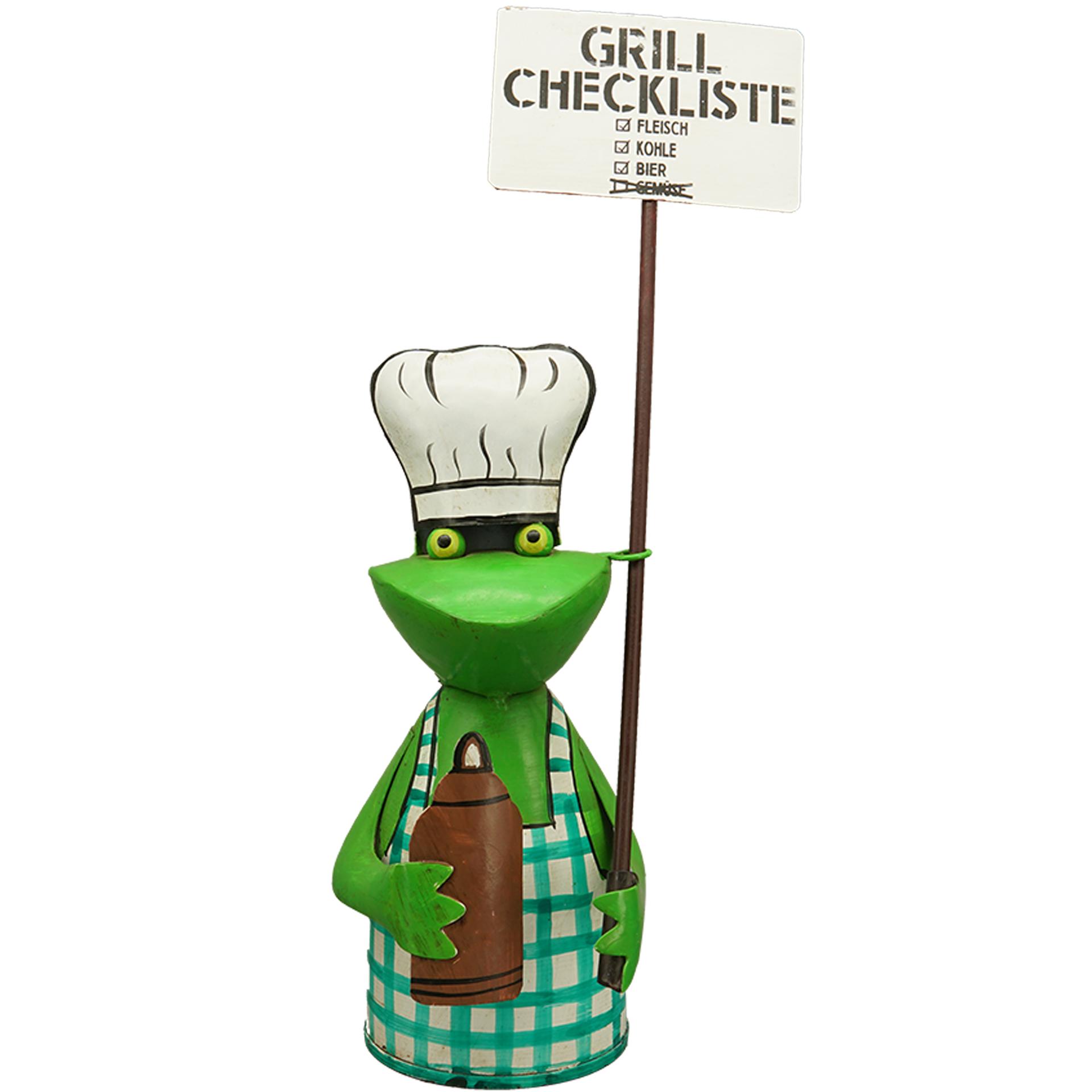Zaunhocker Frosch BBQ grün - Checkliste