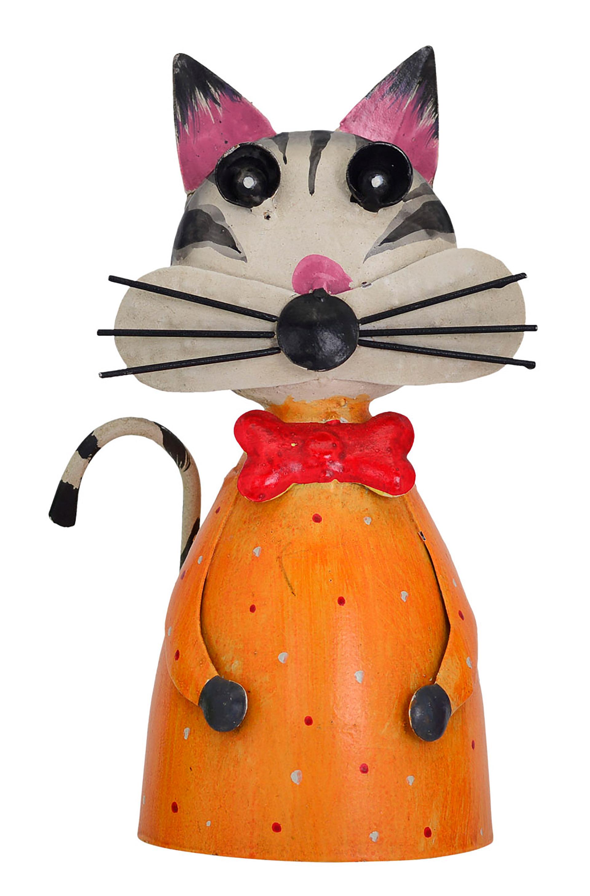 Zaunhocker Katze orange-gepunktet