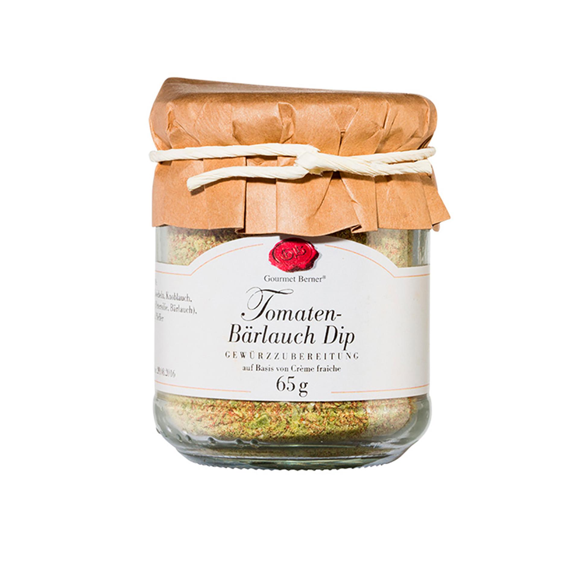 Gourmet Berner - Tomaten-Bärlauch Dip, 65g Glas
