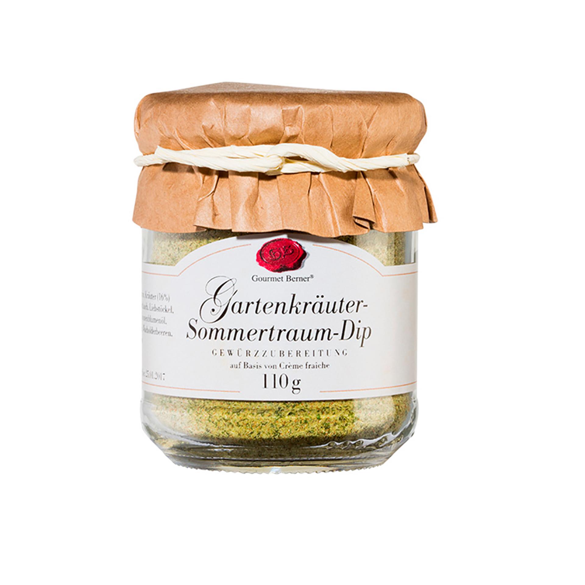 Gourmet Berner - Gartenkräuter Sommertraum Dip, 110g Glas