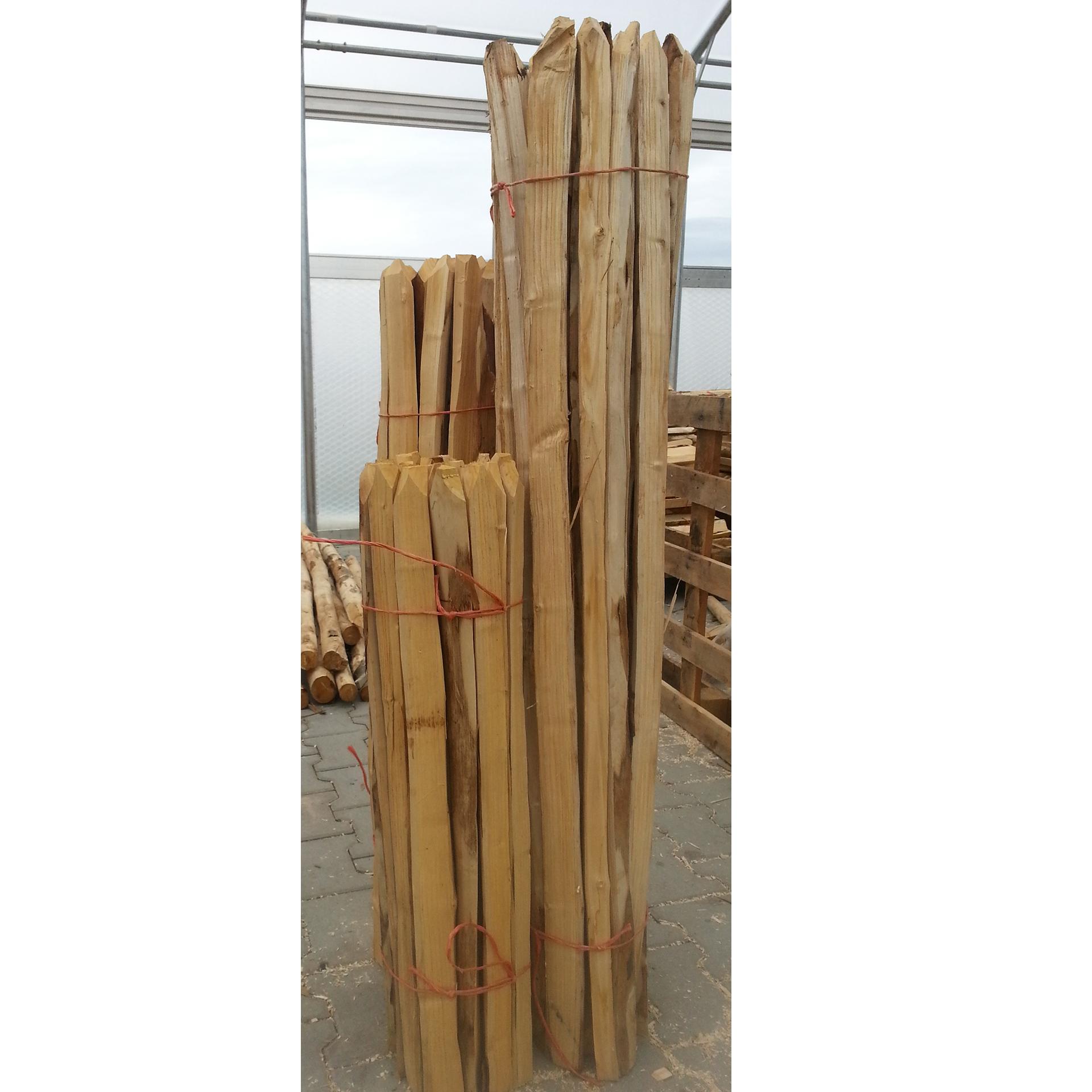 Einzelstaketen 100cm Edelkastanienholz Ø3-4cm, 25 Stk.