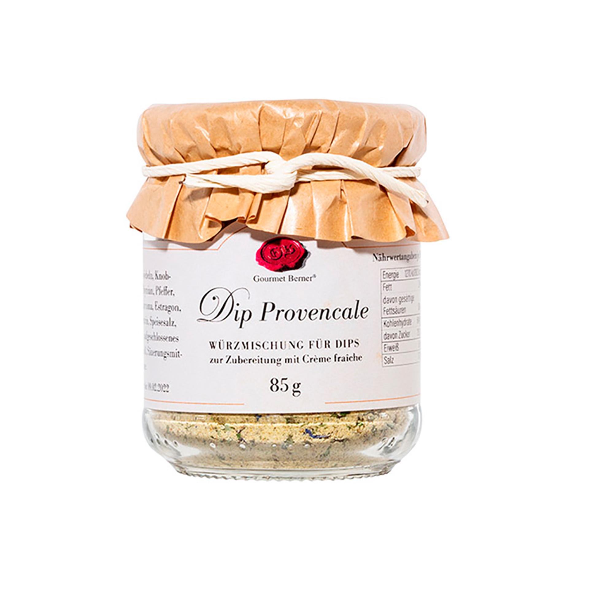 Gourmet Berner - Dip Provencale, 85g Glas