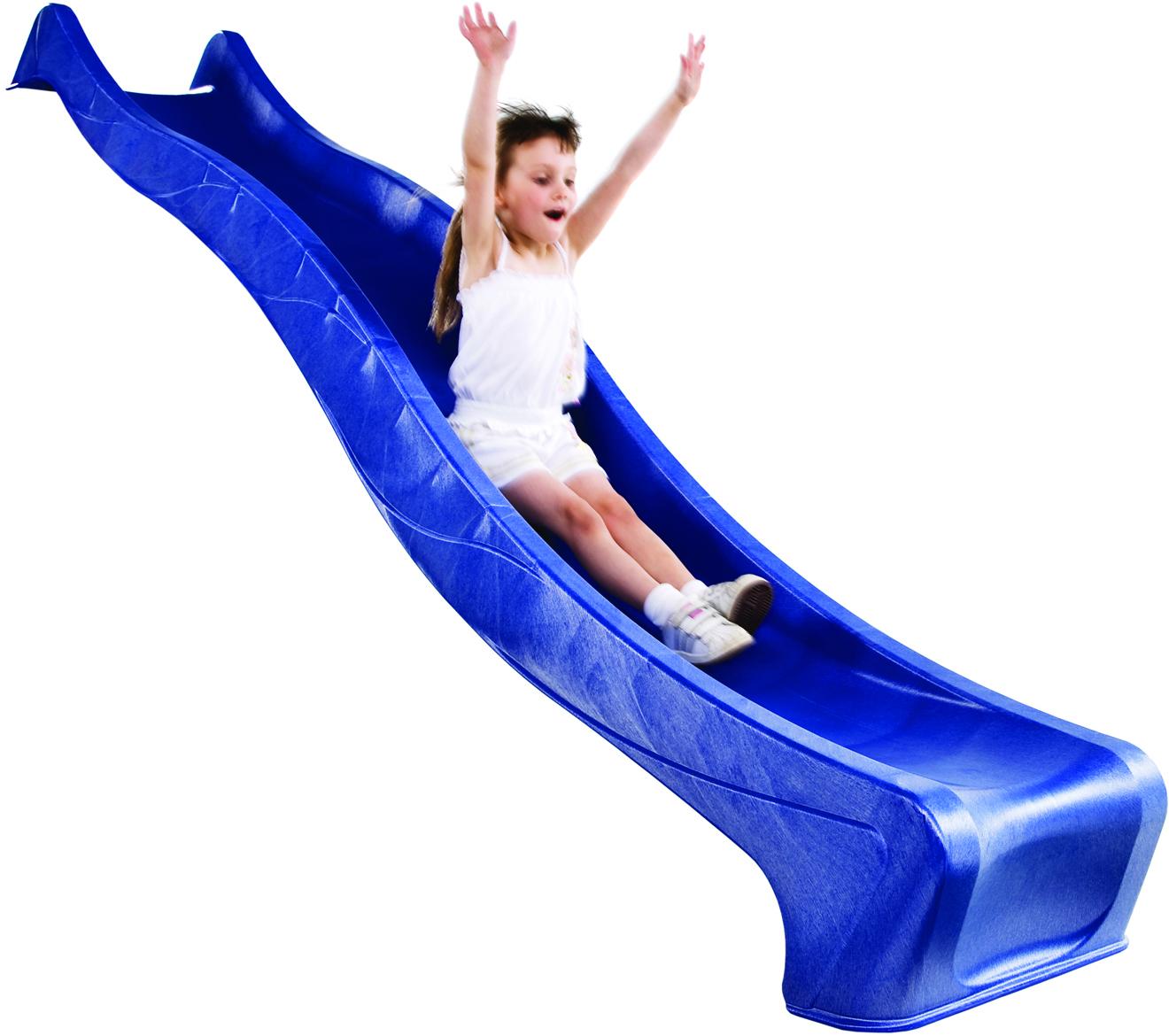 Rutsche blau zu Kinderspielhaus CRAZY BENNY